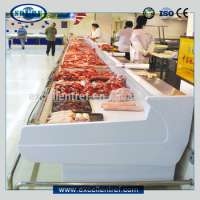 fresh meat chiller freezer display showcase commercial use