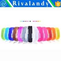 Unisex digital led silicone sports wrist watch  Manufacturer