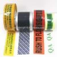 Zebra Crossing Tape and Customized self adhesive printed bopp adhesive tape carton sealing Manufacturer