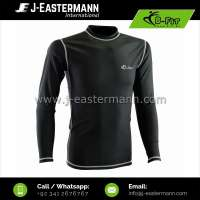 Mens long sleeve compression shirt / long sleeve rash guard for men Manufacturer