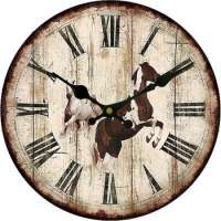 mdf kitchen wooden wall clocks horse painting Manufacturer