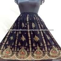 Hand embroidered designer women Long Skirt Manufacturer