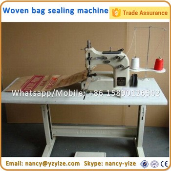 Chain stitch thread jute bag sewing machine gunny bag seaming machine thread bag making machine