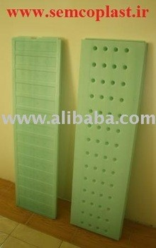 Plastic hollow blow molded board of HDPE