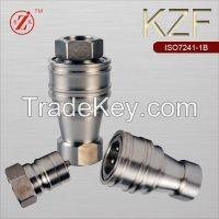 KZF ISO7241B SS304 pneumatic and hydraulic quick couplingcoupler