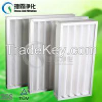 Small resistance G3G4 Synthetic Fibre Foldaway Pleated Panel Filters Manufacturer