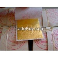 Edible Gold Leaf : 10 Gold Leaf Sheets 24 K