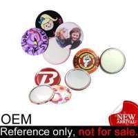 custom pocket tin mirror button badge