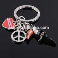 3d mini hard pvc Toucans metal key chain Manufacturer