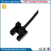 5mm optical fork sensor 24V dc 4wires photoelectric sensor switch with ROHS