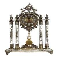 crystal marble clock for decoration Manufacturer