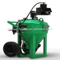 crushed glass dustless wet sand blasting machine