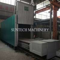 Trolley type annealing furnace steel pipes gas fired or electric heating