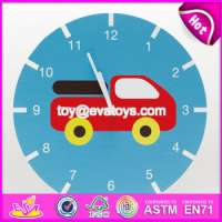 cartoon wooden kids wall clock  Manufacturer