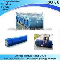 Plastic Corrugated Polypropylene Sheet in Rolls Manufacturer