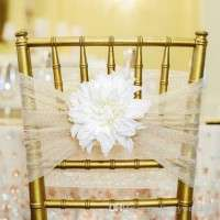 Custom Made Flower Chair Sash Manufacturer