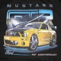 Ford mustang gtr 40 anniversary motorsports racing tshirt Manufacturer