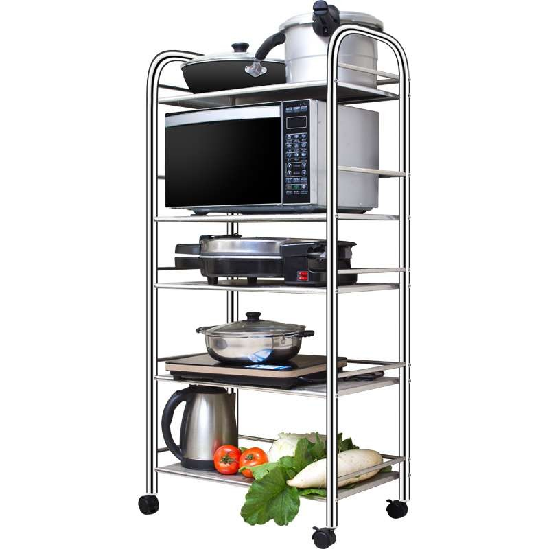 Stainless steel kitchen storage trolley