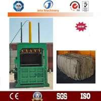 semi automatic vertical cardboard baling press machine