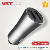 Stainless steel dual usb travel charger android Manufacturer