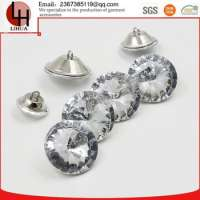 metal and Plexi glass crystal rhinestone buttons