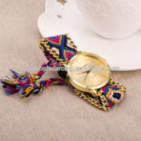 Looking Gift Bracelet Lady Woman Woven Rope Lady Wrist Fashional Weave Watches