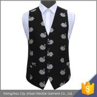 accept mixed swan patterns polyester multi pocket vest Manufacturer