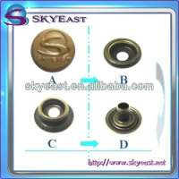 Four parts Metal Ring Snap button Garment