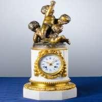 Antique Clock Puttos the 1870's Manufacturer