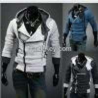 Hooded cotton plain long sleeve zipper mens jackets Manufacturer