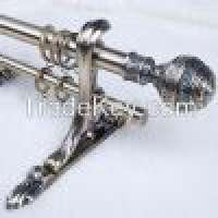 Home decoration Artistic adjustable curtain rods metal brackets and rings Manufacturer