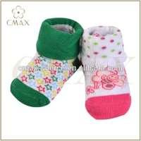 03 month organic cotton warm infant boy girl socks antislip jacquard born socks Manufacturer