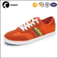 Zosdon Rubber Pange Shoes Orange Gents Shoes Thick Sole Shoes Men