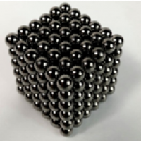 Black color 5mm Magnetic ball 216pcs DIY cube toy neodymium magnet Manufacturer