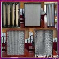 Medium efficiency Vbank mini pleat Hepa Filter Manufacturer