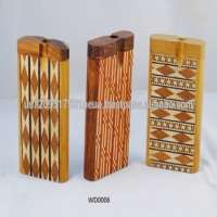 Designer Wooden Dugouts Glass Smoking Pipes  Manufacturer