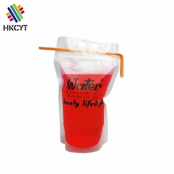 Leak proof drink bag zipperdrinkbeverage clear ziplock bags juicelemon teacola
