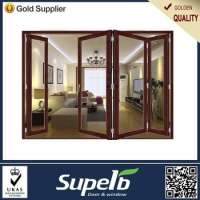 Folding soundproof glass low security door Double glazing