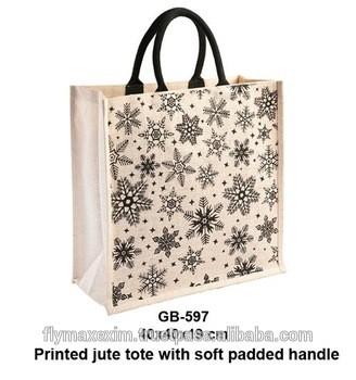 1b9c137809 embroidery jute handbag printed jute bag customized jute bag