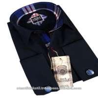 blue in slim fit Men shirt shirts Corbat hemd rubaska Shirt production  Manufacturer
