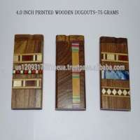 Designer Wooden Dugouts Glass Smoke Pipes  Manufacturer