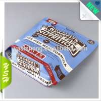 food grade milk coffee protein powder packaging square bottom stand up pouch zipper Manufacturer