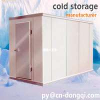 frozen cold room meat and fish storage