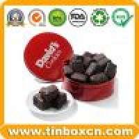 Chocolate tin chocolate box round tin can food tin box Manufacturer