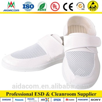 4 Holes ESD Shoes Pu Leather Antistatic Shoes From Shenzhen Aidacom  Electronics Co. 57c3a9858