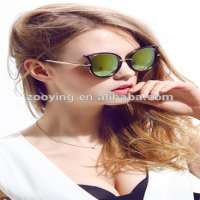 metal cat ladies hollow reflective sunglasses Manufacturer