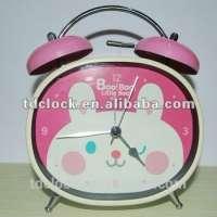 metal twin bell desk clock gift
