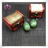 only polished natural jade eggs kegel exercise jade eggs set jade yoni eggs provide gift box Manufacturer