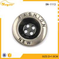 engraving metal buttons shirt Manufacturer