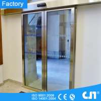 Stainless Steel Frame Automatic Sliding Glass Door Manufacturer